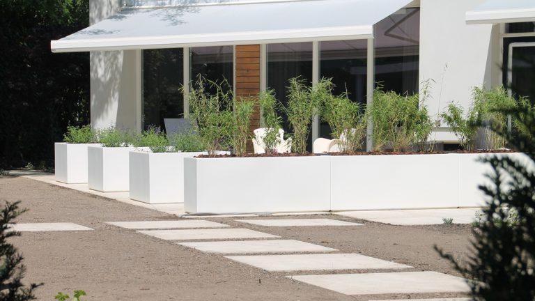 strakke tuin zithoek