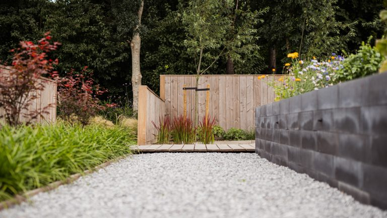 strak landelijk tuin grind