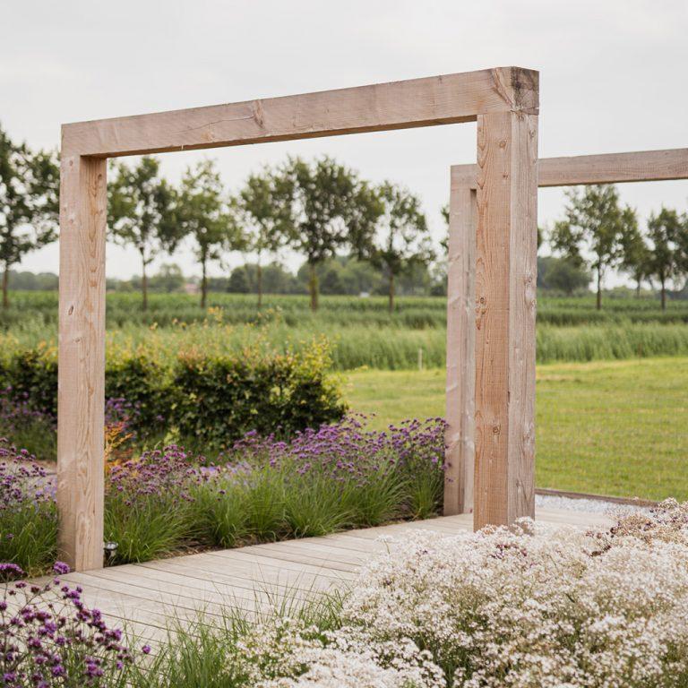 strak landelijk tuin pergola