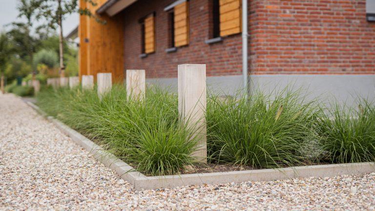 strak landelijk tuin grindpad