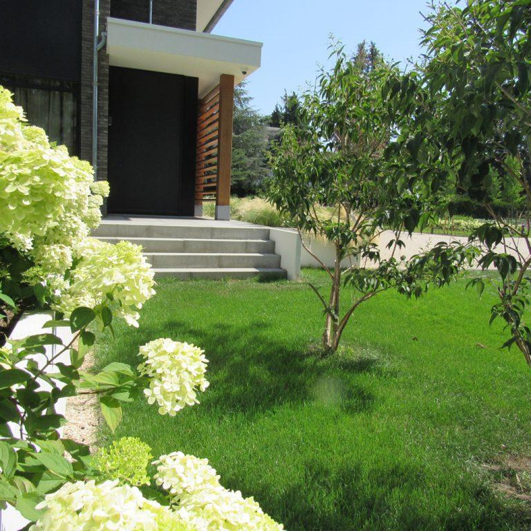 villatuin gazon beplanting